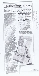 CLOTHESLINES TORONTO STAR 25.10.1990