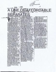 COLIN WATSON GLOBE AND MAIL 07.02.1984