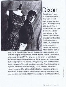 DAVID DIXON FASHION INFO N/A