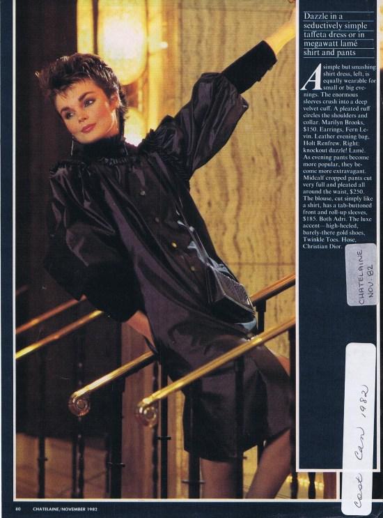 MARILYN BROOKS CHATELAINE NOVEMBER 1982