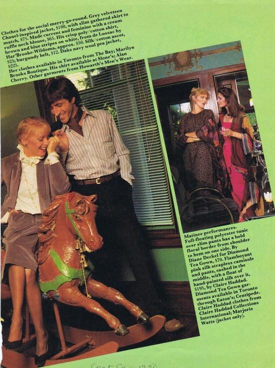 MARILYN BROOKS TORONTO CALENDAR NOVEMBER 1980