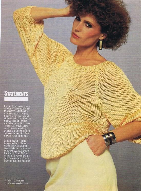 WAYNE CLARK FASHION SPRING 1982