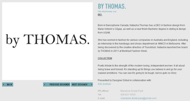 BY THOMAS 2011