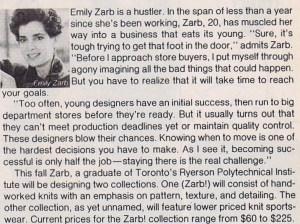 EMILY ZARB FLARE 1985