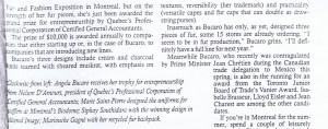ANGELA BUCARO GLOBE AND MAIL 14.07.1994