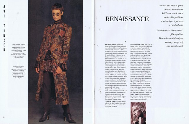 AVI TENZER CREATEURS QUEBEC CLIN D'OEIL FALL WINTER 1993 1994