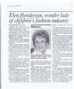 ELEN HENDERSON TO STAR DEC 1988