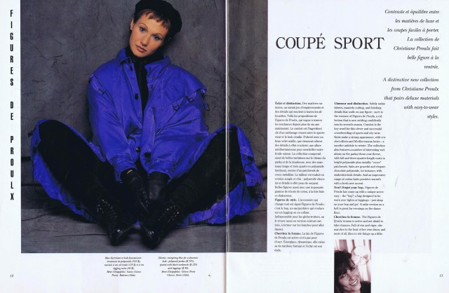 CHRISTIANNE PROULX CREATEURS QUEBEC CLIN D'OEIL FALL WINTER 1993 1994