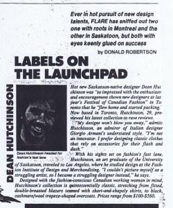 DEAN HUTCHINSON FLARE 1986