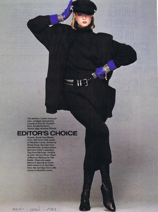 LOUCAS KLEANTHOUS FASHION WINTER 1983