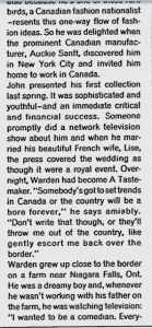 JOHN WARDEN MONTREAL GAZETTE MARCH 1962
