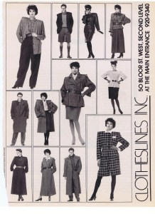 CLOTHESLINES FASHION WINTER 1987
