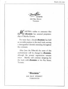 MARTHA MAYFAIR JULY 1929