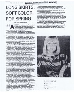 LINDA LUNDSTROM GLOBE AND MAIL 26. 02. 1985