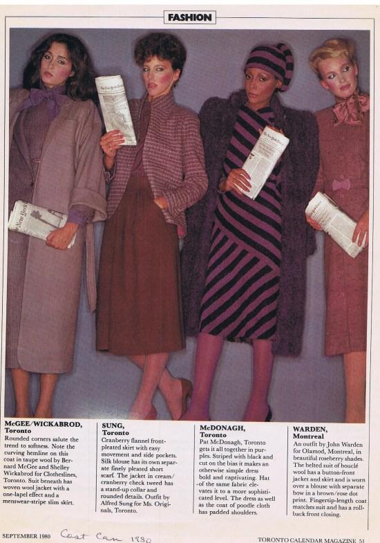 ALFRED SUNG (LEFT) TORONTO CALENDAR SEPTEMBER 1980