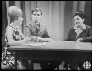 LIZETTE GERVAIS MICHEL ROBICHAUD MARIELLE FLEURY CBC MAY 19, 1966