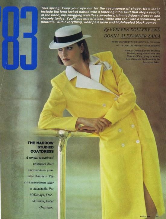 PAT MCDONAGH CHATELAINE FEBRUARY 1983