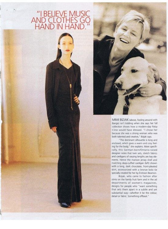 MIMI BIZJAK FASHION SEPTEMBER 1998