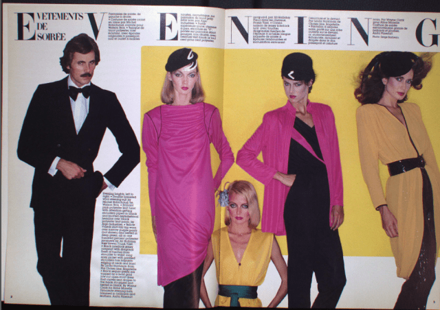 MICHEL ROBICHAUD CANADA FASHION MODE 1980