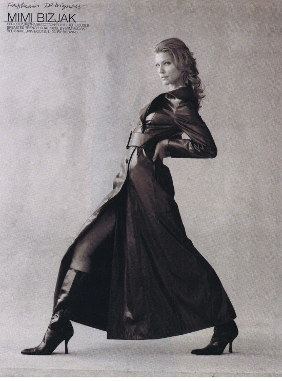 MIMI BIZJAK FASHION SEPTEMBER 2000