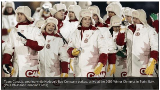 WINTER OLYMPIC UNIFORMS CBC 17