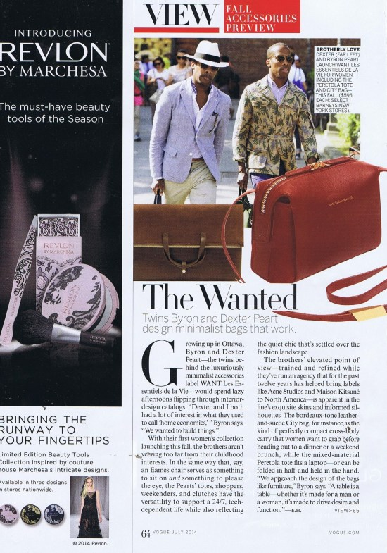 BYRON AND DEXTER PEART VOGUE JULY 2014