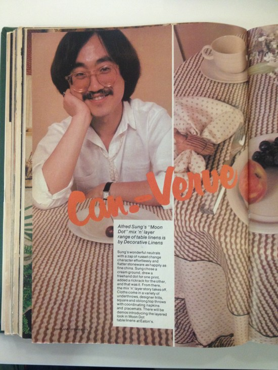 CANADIAN VERVE CHATELAINE SEPTEMBER 1985 ALFRED SUNG