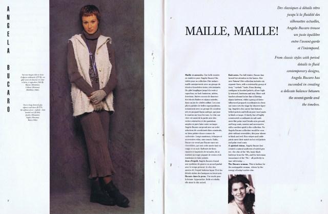 ANGELA BUCARO CREATEURS QUEBEC CLIN D'OEIL FALL WINTER 1993 1994