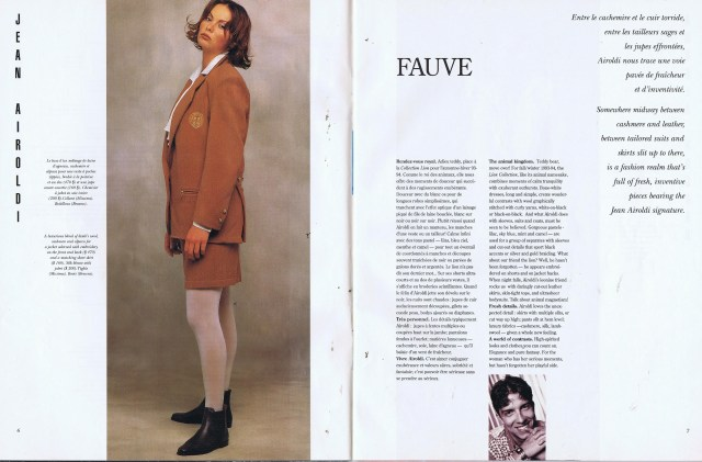 JEAN AIROLDI CREATEURS QUEBEC CLIN D'OEIL FALL WINTER 1993 1994