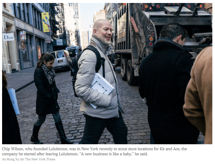 58fbd6684d Chip Wilson, the billionaire from Vancouver, British Columbia, who famously  fell out with Lululemon Athletica, the company he founded, made a stop in  New ...