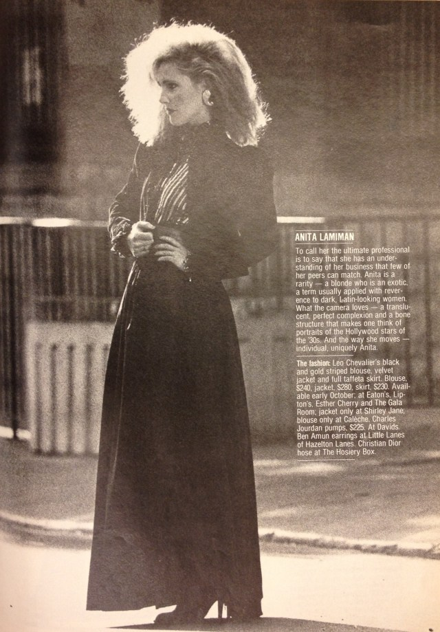 FASHION 1981 FALL MODELS 6 ANITA LAMAMAN LEO CHEVALIER