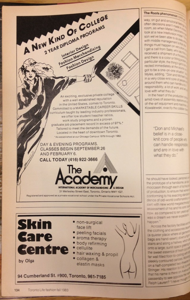 1983 FALL FASHION  ACADEMY