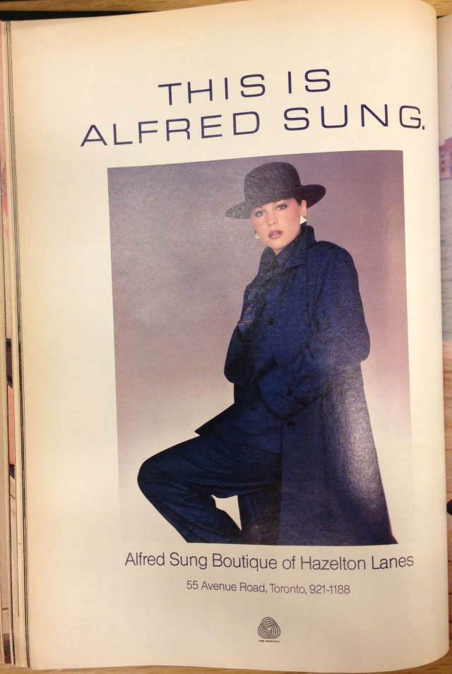 1983 FALL FASHION ALFRED SUNG