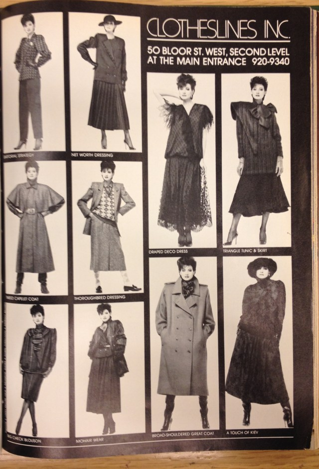 1983 FALL FASHION CLOTHESLINES