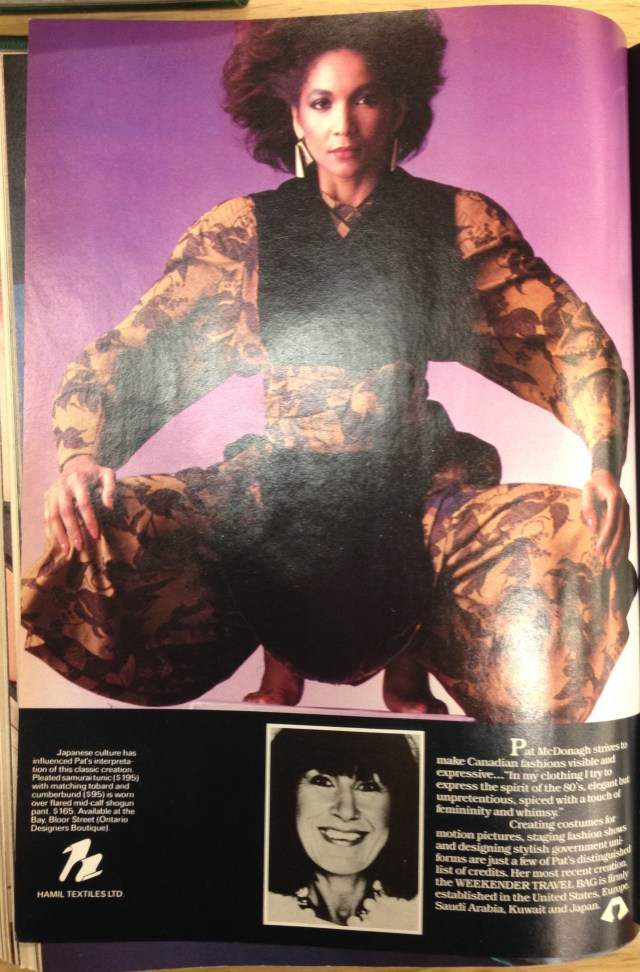 1983 FALL FASHION TOD 5 PAT MCDONAGH