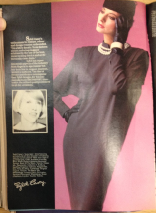 1983 FALL FASHION TOD 9 SYBIL CASEY