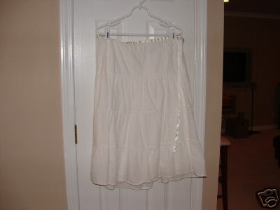 boho tiered white skirt