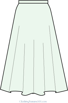 How to Pattern a Full Skirt