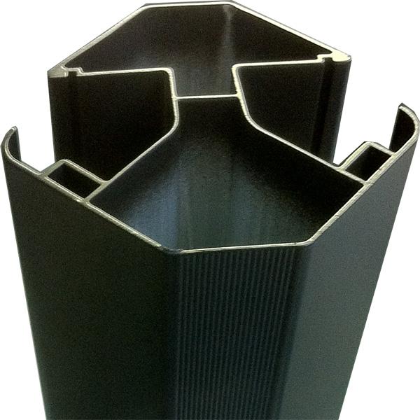 aluminium pour cloture en bois composite