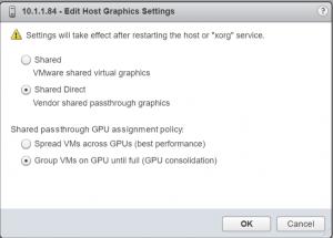 ESX graphics settings