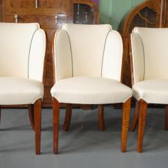 Art Deco Kitchen Chairs Colorful Chaise Lounge Epstein Dining Table And 6 Cloud Back In Fiddle