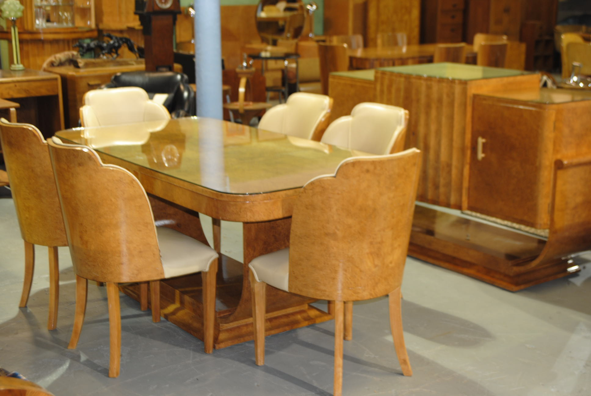Art Deco Epstein Dining Suite and Sideboard  Cloud 9
