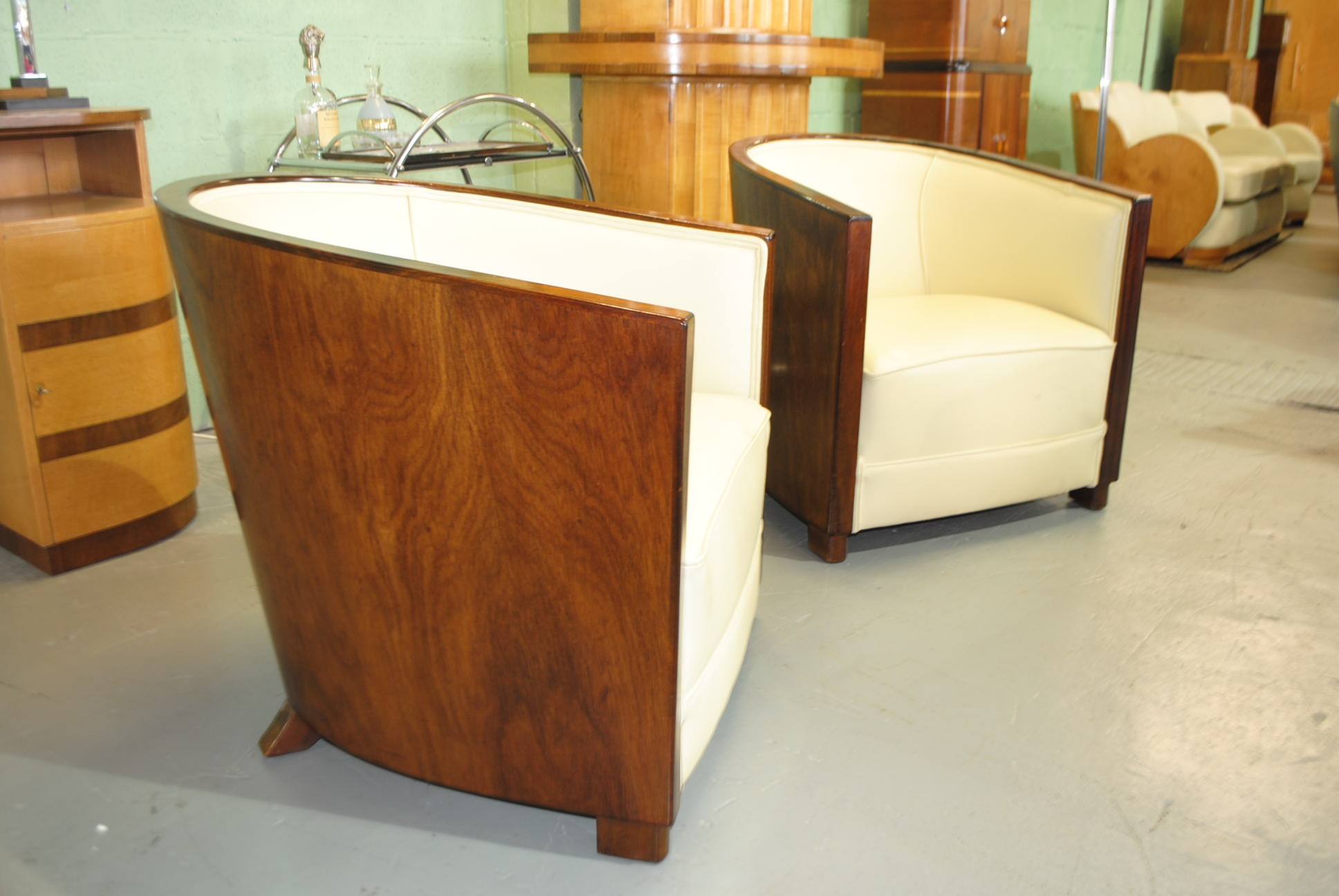Art Deco Club Chairs  Cloud 9 Art Deco Furniture Sales