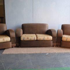 Cream Soft Fabric Sofa Interior Sofas Living Room Art Deco 3 Piece Suite || Cloud 9, Furniture Sales