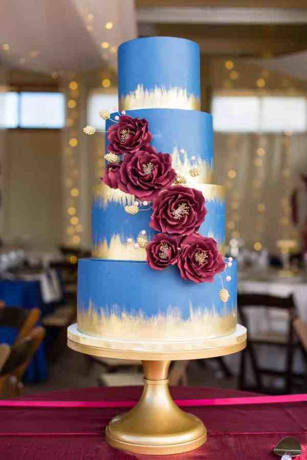 Navy Blue And Burgundy Wedding Cakes Imgurl