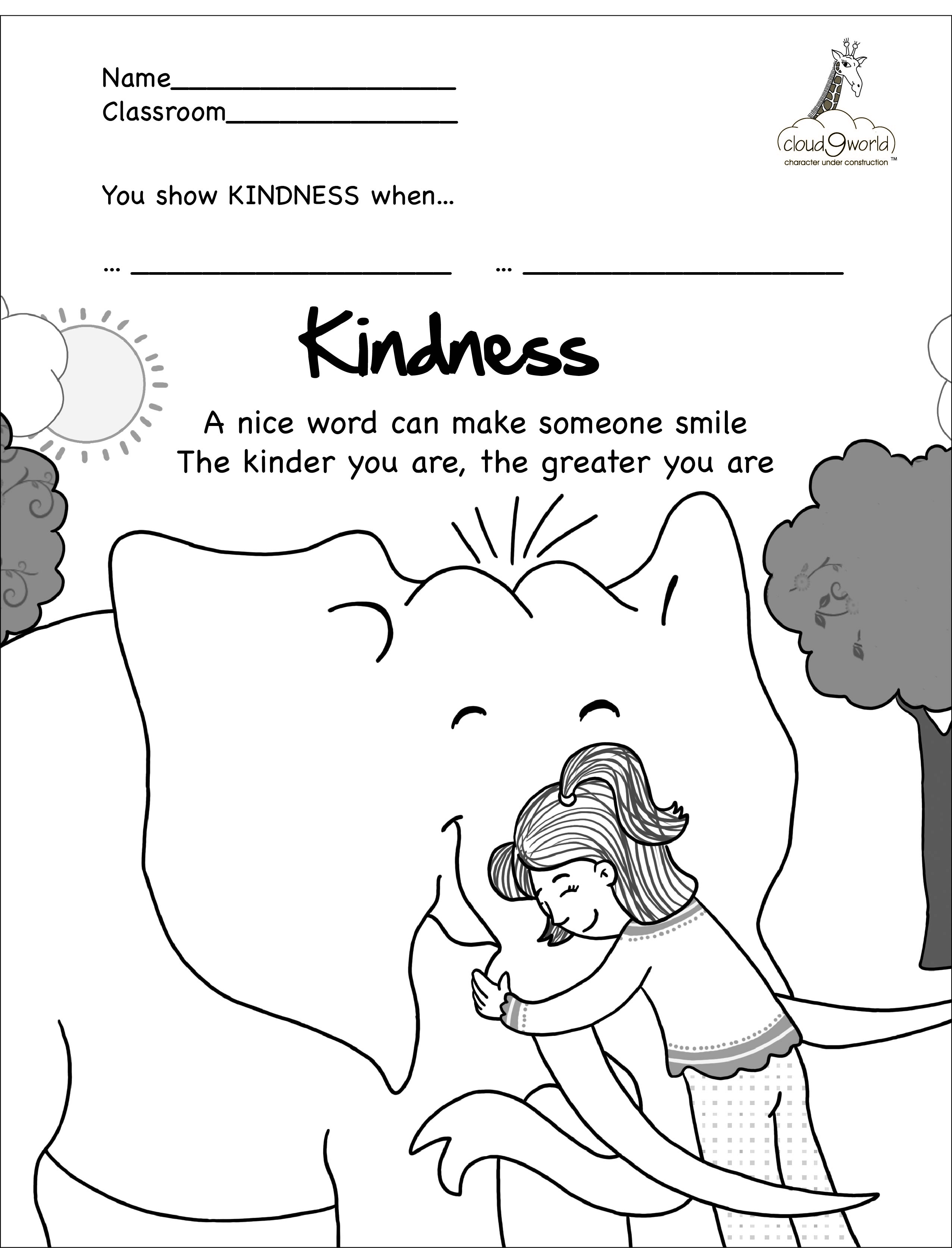 Kindness In The Bible Coloring Pages Coloring Pages