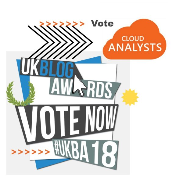 Vote CloudAnalysts at the UK blog awards 2018