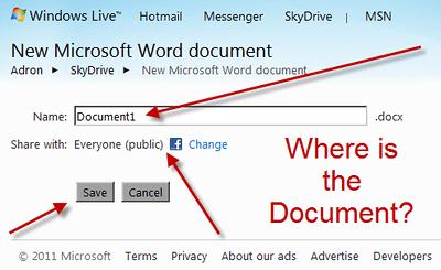 Windows Live Skydrive Microsoft Word Document
