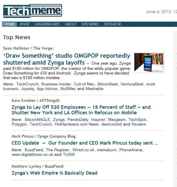 techmeme zynga