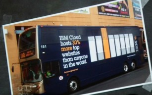 IBM bus signs aws reinvent
